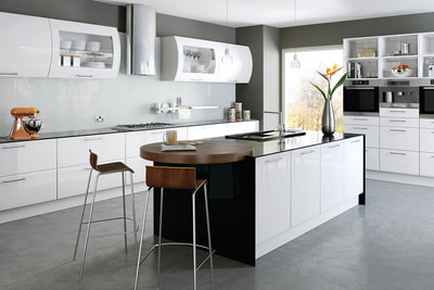 High Gloss White Lincoln Kitchen